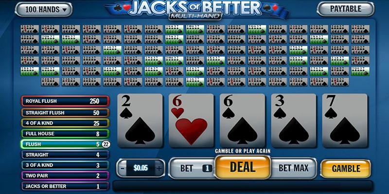 Video Poker dengan banyak tangan